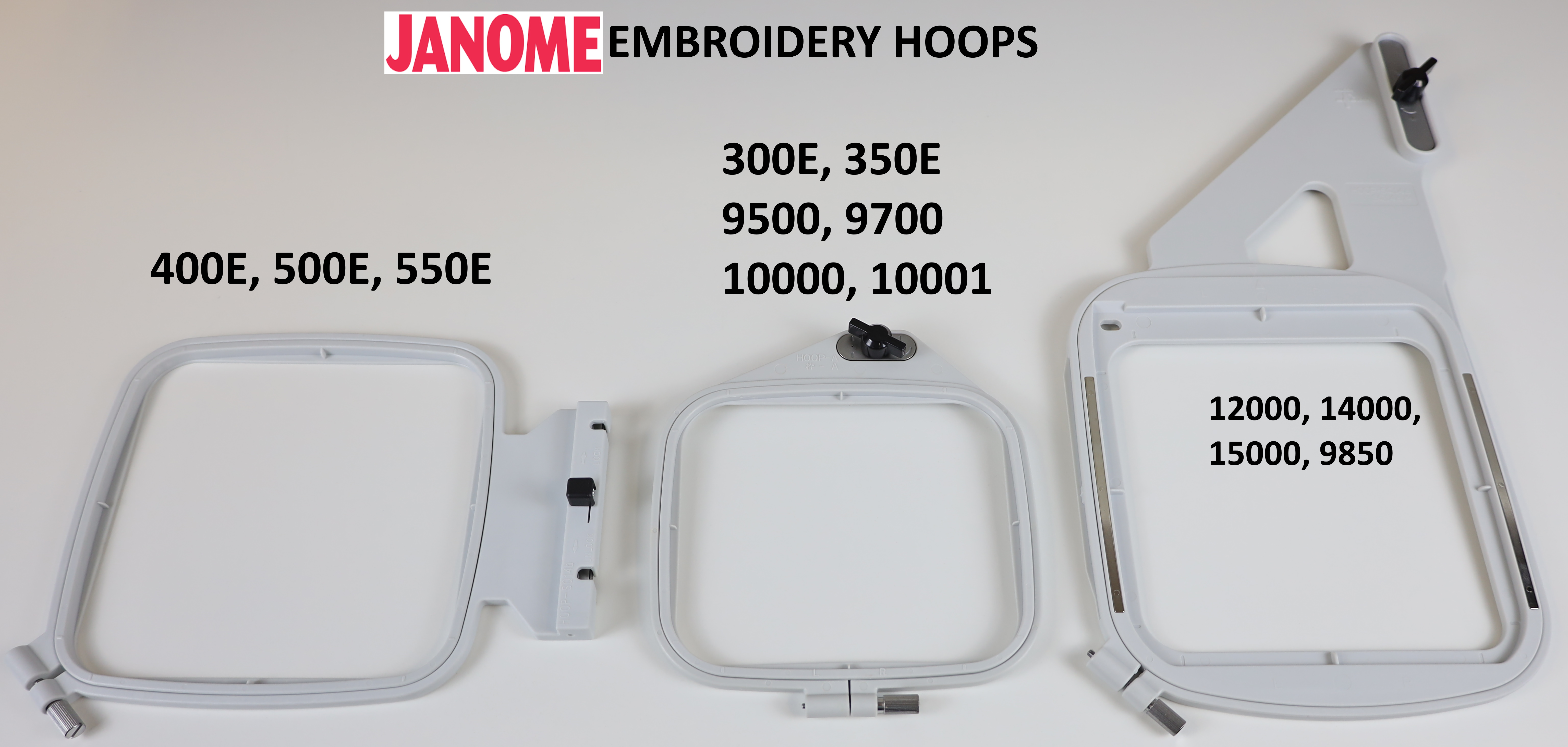 Janome Embroidery Machine Hoops