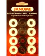 Janome Prewound Bobbins Black and White