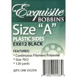 Exquisite Size A Plastic Side with Black Embroidery Bobbin Thread 12 Ct
