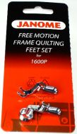 Janome 1600 Series Free Motion Frame Quilting Foot Set