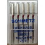 Schmetz Stick Nadle Embroidery Needles 75/11