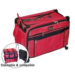 Tutto 28 Inch Sewing and Embroidery Machine Trolley On Wheels in Red