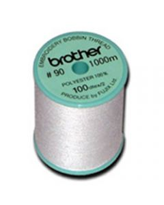 Brother EBTPE 90 weight White Embroidery Bobbin Thread