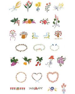 Brother SA299 No.2 Fruits & Flowers Embroidery Design Card