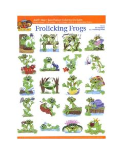 Dakota Collectibles  Frolicking Frogs Embroidery Designs