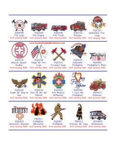 Dakota Collectibles Fire Fighter Embroidery Designs