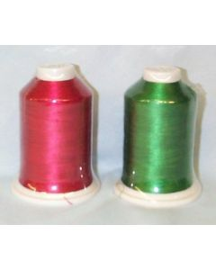 Exquisite Holiday Embroidery Thread Duo