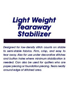 Ken's Sewing Tearaway Light Embroidery Stabilizer