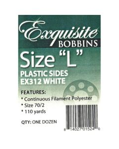 Exquisite Size L Plastic Side with Embroidery Bobbin Thread 12 Ct