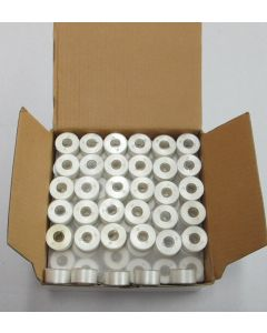 Exquisite Plastic Side Size A Gross (144) count of White Prewound Bobbins