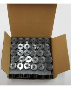 Exquisite Plastic Side Size A Gross (144) count of Black Prewound Bobbins