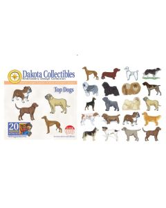 Dakota Collectibles Top Dogs Embroidery Designs