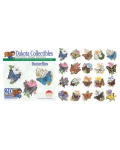 Dakota Collectibles Butterflies Embroidery Designs