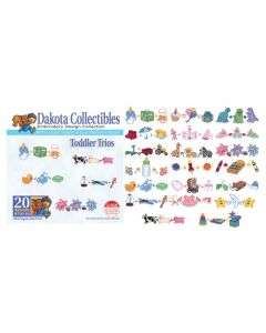 Dakota Collectibles Toddler Trios Embroidery Designs