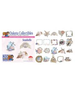 Dakota Collectibles Seashells Embroidery Designs