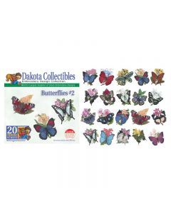 Dakota Collectibles Butterflies #2 Embroidery Designs
