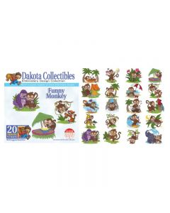 Dakota Collectibles Funny Monkey Embroidery Designs