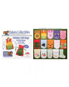 Dakota Collectibles Holiday Gift Bags Embroidery Designs
