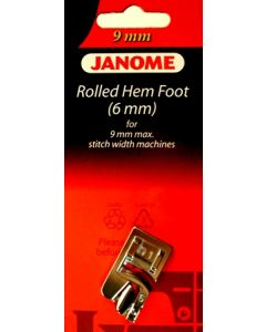 Janome 6mm Hemmer Foot 9mm