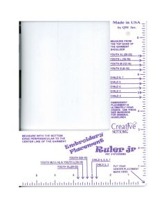 Creative Notions Embroidery Placement Ruler Jr.