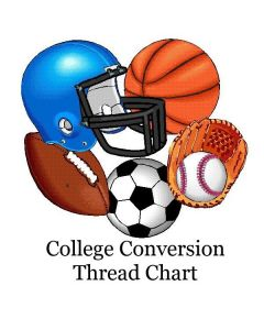 College Thread Color Conversion Chart