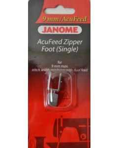 Janome Acufeed Zipper Foot 9mm