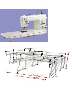 Brother PQ1500SL and Grace Q-Zone Queen Quilting Frame