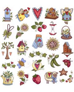 DIME Inspirations Collection Embroidery Designs #24 Contemporary Country