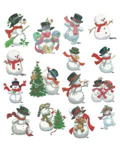 DIME Inspiration Collection Embroidery Designs #59 Morehead Snowmen