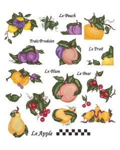 DIME Inspiration Collection Embroidery # 70 Designs Susan Schmitz Fruit