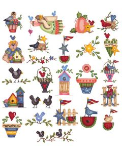 DIME Inspiration Collection Embroidery Design #71 Susan Schmitz Liberty Garden