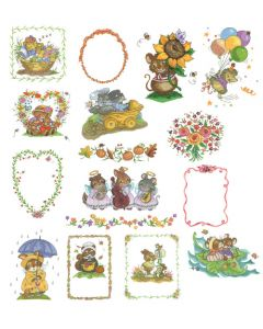 DIME Inspiration Collection Embroidery Designs #74 Tina Wenke Cute Critters
