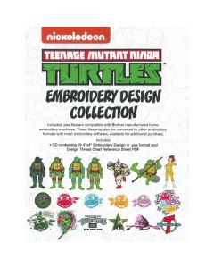Brother Nickelodeon Teenage Mutant Ninja Turtles Embroidery Design Collection