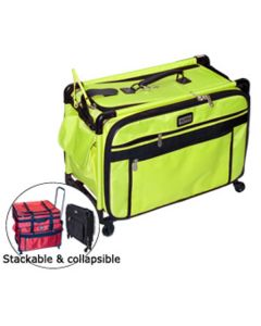Tutto 22 Inch Sewing Machine Trolley on Wheels Lime