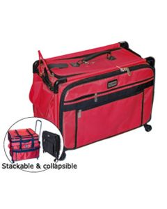 Tutto 22 Inch Sewing Machine Trolley on Wheels Red