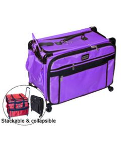 "Tutto 28"" Sewing and Embroidery Machine Trolley On Wheels in Purple"