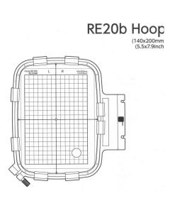 Janome Embroidery Hoop RE20B for 400e 500e