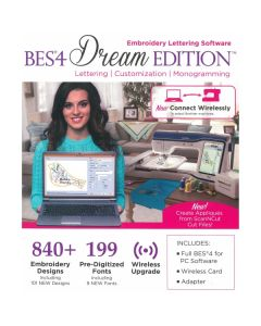 Brother BES4 Dream Edition Embroidery Letting Software with Wireless Upgrade Kit