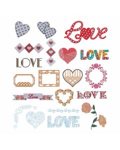 DIME Designs in Machine Embroidery #92 Lots of Love Embroidery Designs
