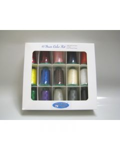 15 Basic Color Embroidery Thread Set