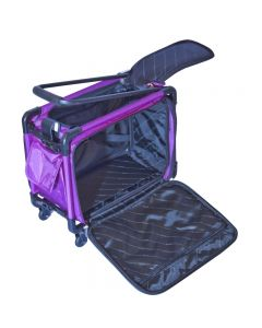 Tutto 17 Inch Sewing Machine Trolley on Wheels Purple