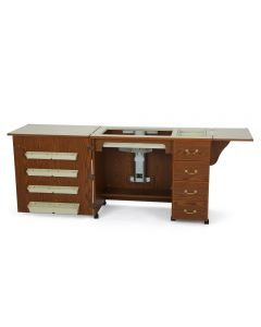 Arrow Norma Jean Sewing Machine Cabinet in Oak