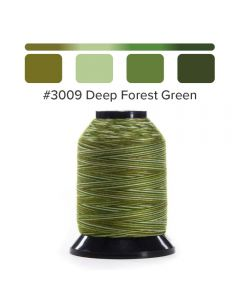 Grace Finesse Variegated Quilting Thread Deep Forest Green #3009
