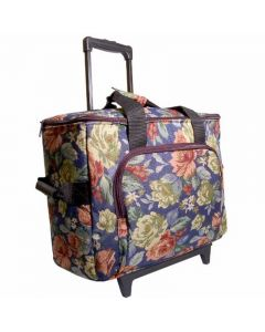 Hemline Sewing Machine Trolley in Blue Floral