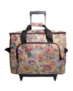 Hemline Deluxe Sewing Machine Trolley in Cream Floral