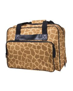Janome Sewing Machine Tote in Giraffe Print
