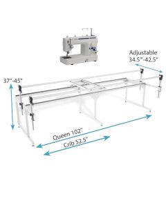 Brother DZ1500F Midarm Quilting Machine with Grace Q-Zone Queen Quilting Frame Combo