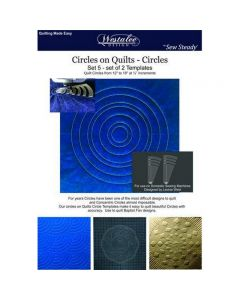 Westalee 4 Piece Circles On Quilts Template Set WT-COQ-SET4