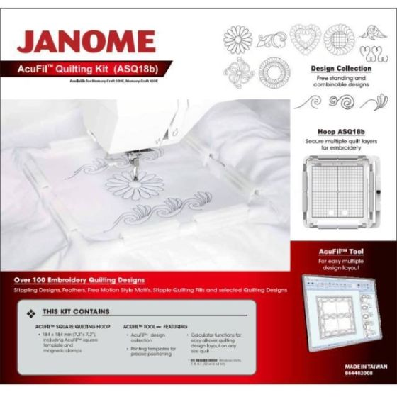 JANOME AcuFil Quilting Kit Memory Craft 12000 Vers.1.10