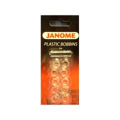Janome 15 Class Sewing Machine Bobbins Plastic Pack of 10